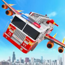Flying Firefighter Truck Transform Robot Games 29 APK PROCrack for android Download android app
