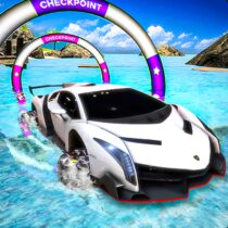 Incredible Water Surfing Hero 3D Car Racing Game 1.3 APK Mod for android Download android app